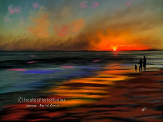 Sunset painting in Capo Beach